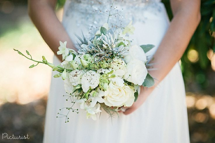 Beautiful white and neutral wedding bouquet! From Carla & Werner's wedding at Maison Estate in Franschhoek.