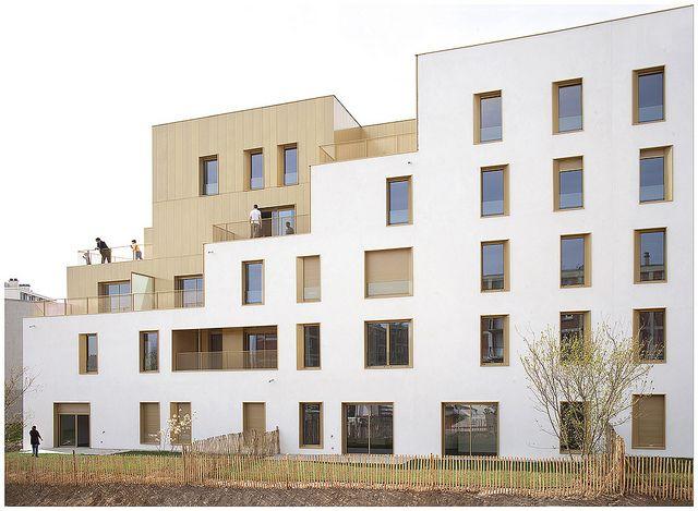 Immeuble de logement, TVK Architectes. ZAC du Chaperon Vert, Arcueil. | Flickr: partage de photos!