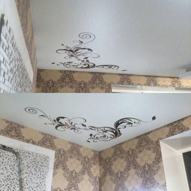 Нанесение фотопечать на натяжной тканевый потолок Cerutti в г. Берёзовский