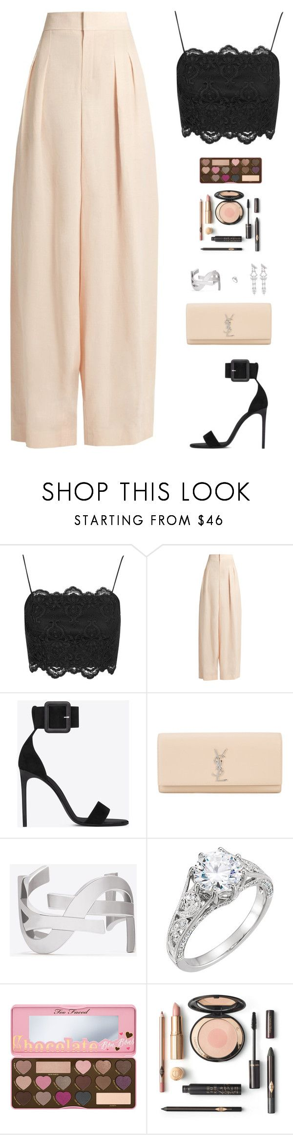"""Sin título #4773"" by mdmsb on Polyvore featuring moda, Topshop, Chloé, Yves Saint Laurent y Too Faced Cosmetics"