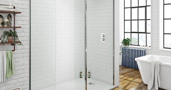 Mode luxury 8mm walk in shower enclosure pack with shower tray