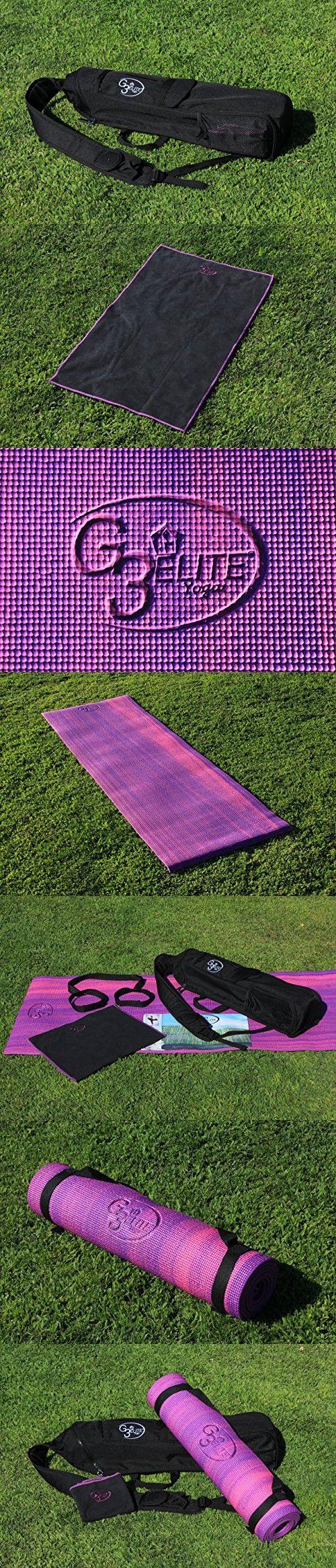 G3Elite Yoga Set, Purple/Pink Combo Starter Kit Includes - Yoga Mat, Bag, Sling Strap, Plus Hand Towel