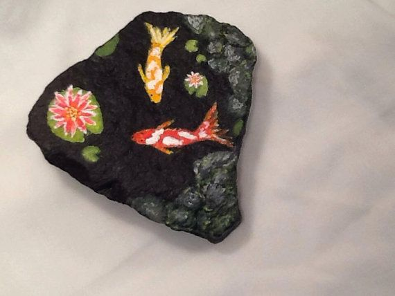 57 best images about painted rocks on pinterest caillou for Koi fish pond rocks