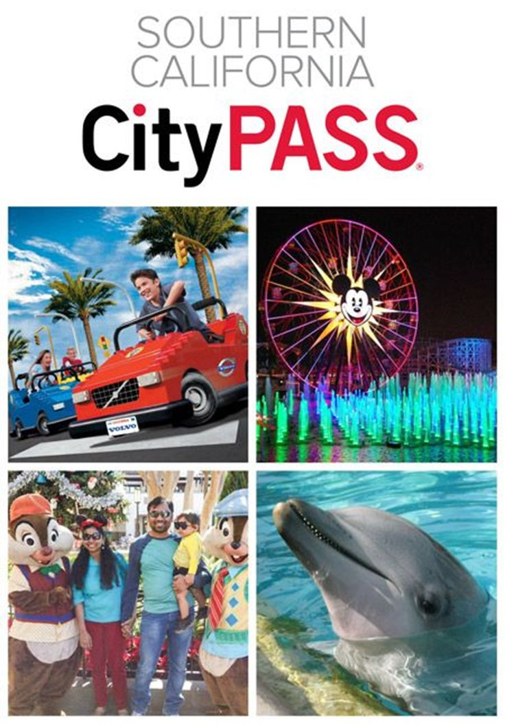 One handy pass gets you admission into Southern California's finest attractions including a 3 Day park Hopper to Disneyland and Disney's California Adventure, Legoland and Sea World with an optional add on of the San Diego Zoo. #ad #disneyland #californiaadventure #seaworld #legoland #california