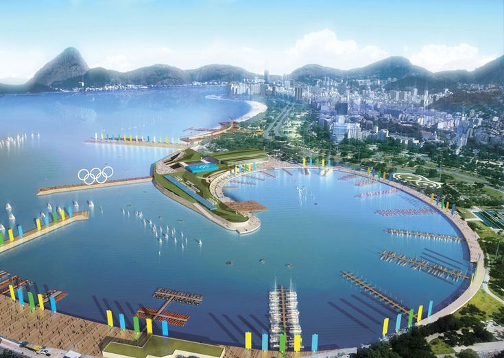 So excited already. First glimpse of the Olympic docking zone in Rio for 2016. So beautiful!  rio olympics rowing venue
