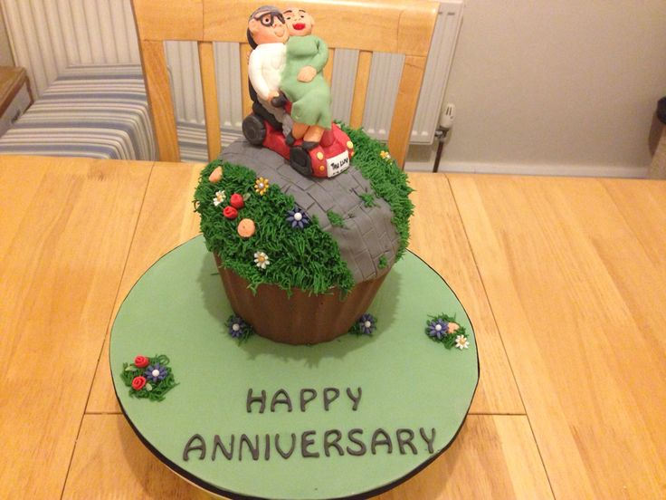 Anniversary #giantcupcake #mobility scooter