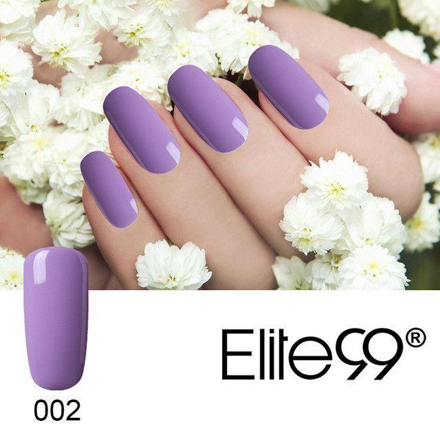 Elite99 Pink Purple UV Nail Gel Polish Soak Off Long-lasting Varnish Gel Polish Manicure Nail Art Tips Polish Design UV Gel