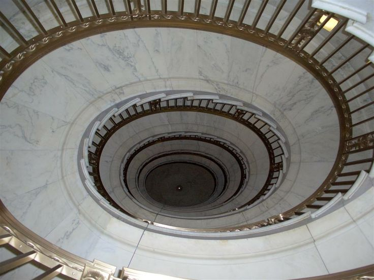 The spiral staircase in the Supreme Court Building.  Closed to the public but you can look.  Number two on a bucket list of DC
