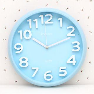 Ленивый угол ★ моды конфеты цветные цифровые часы стены круглый спальня, гостиная немой часы смотреть 35757 - Taobao