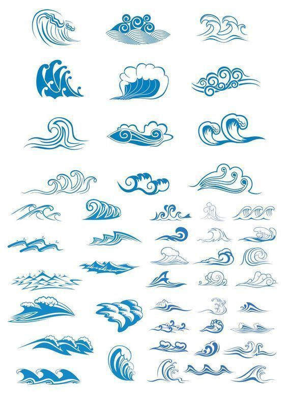 Image Result For Small Wave Tattoo Ink My Body Wave Drawing