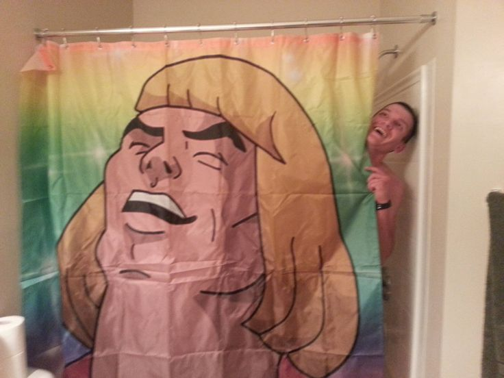 I said heeeeeyeyeyey, what's going on? (Good prank to replace buddies shower curtain with lol