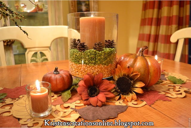 Fall Dining Table Centerpiece From Kristen 39 S Creations