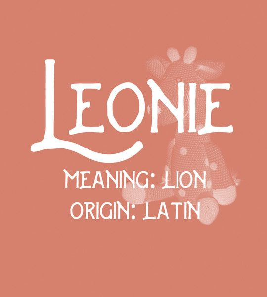 Leonie - Uncommon Girl Baby Names That Aren't Overused Yet - Photos