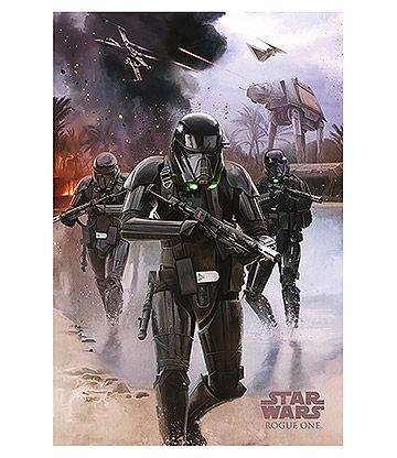 Star Wars Rogue One Death Trooper Beach Poster