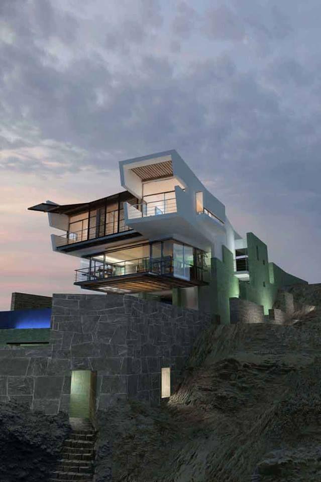 Lefevre House by Longhi Architects Punta Misterio, Peru  https://www.facebook.com/media/set/?set=a.10152589383365420.1073742322.402412880419&type=3