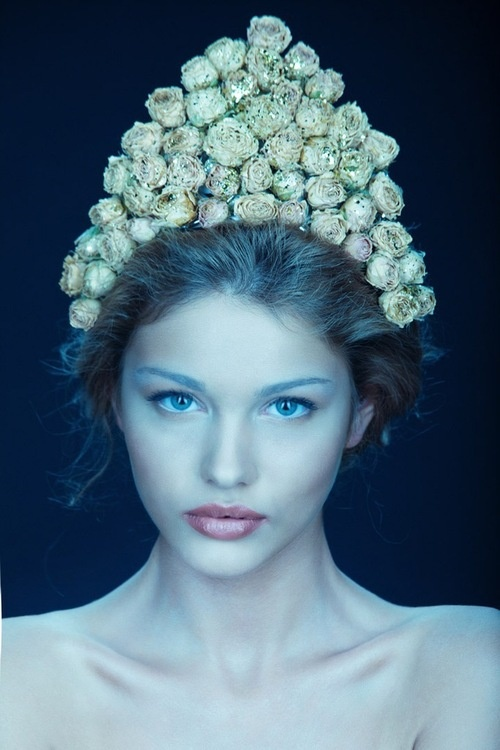 Russian Beauty, Russian girl. Floral crown.
