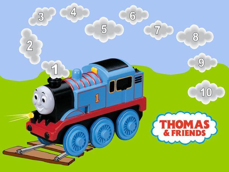Thomas de trein kaart voor  telspel/bordspel. Leuk in combinatie met andere treinspelletjes én de echte thomas de trein.