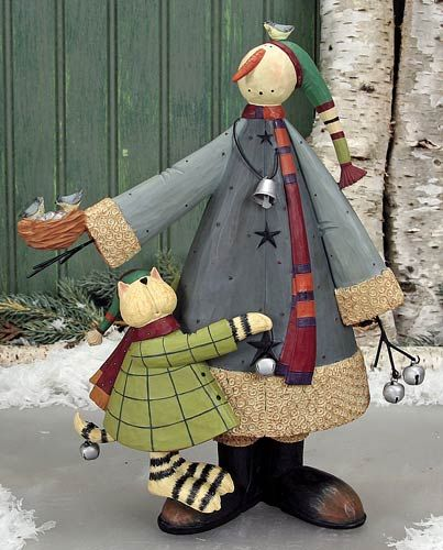Snowman with Cat Buddy Figurine Snowman with Cat Buddy Figurine – Christmas Folk Art & Holiday Collectibles – Williraye Studio [WW2889] - $40.00 : The Official Williraye Studio Store, Folk Art Collectibles and Figurines