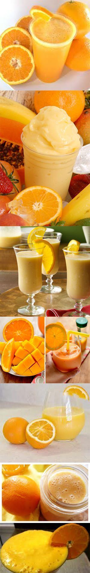 From Orange Pineapple Coconut Smoothie to Orange Banana Cream Smoothie you'll find them here; Click HERE for the recipes
