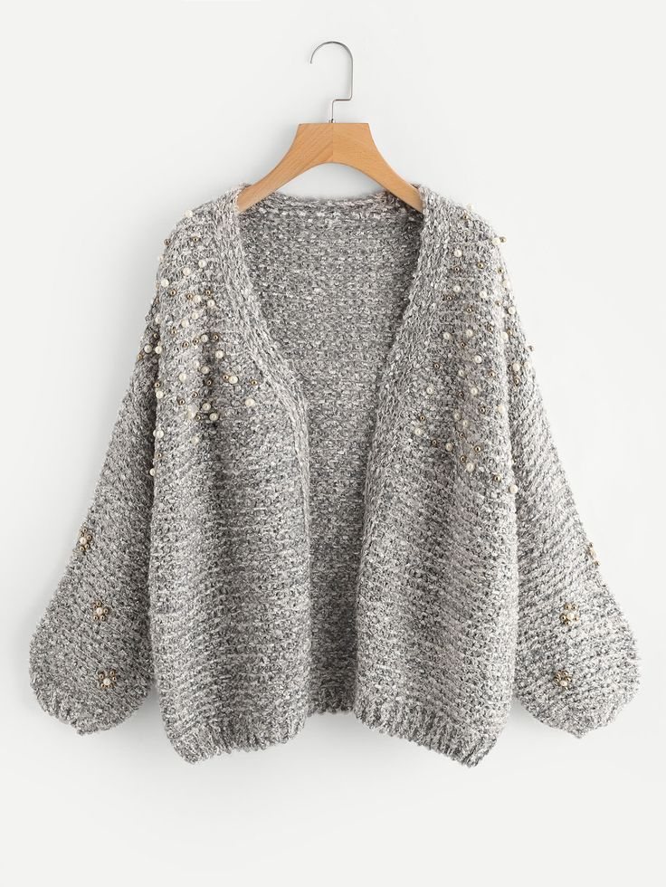 Shop Pearl Beading Open Front Cardigan online. SheIn offers Pearl Beading Open Front Cardigan & more to fit your fashionable needs.