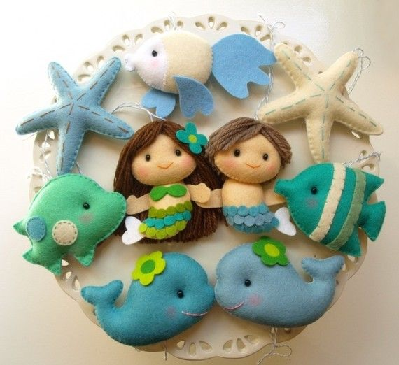 little underwater felt creatures - so incredibly cute