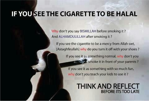 Do you say bismillah before & alhamdulillah after smoking? No, smoking is haram. Islam