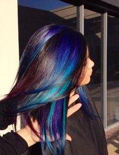 Blue & turquoise hilighting - love <3