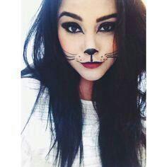 cute cat makeup.