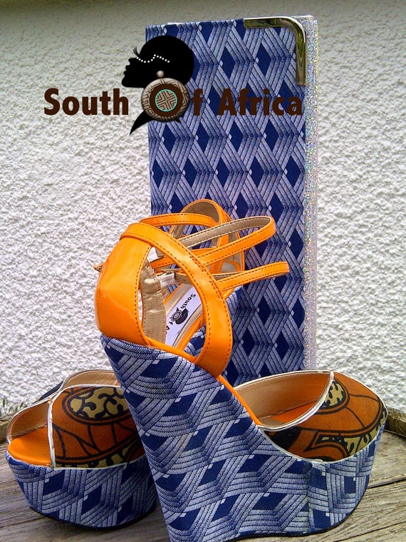 Cannary ShweShwe Wedge by SouthOfAfrica on Etsy, $69.00