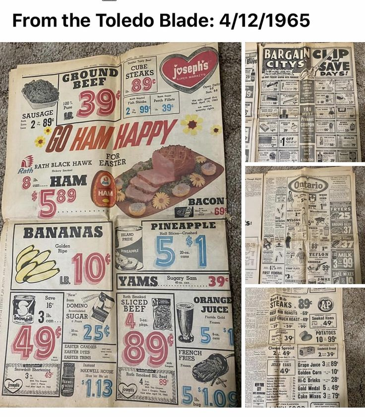 Good old days when food was cheap! In Toledo, Ohio growing