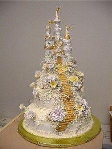 Beautiful Castle Wedding Cake - every princess bride's dream  :)