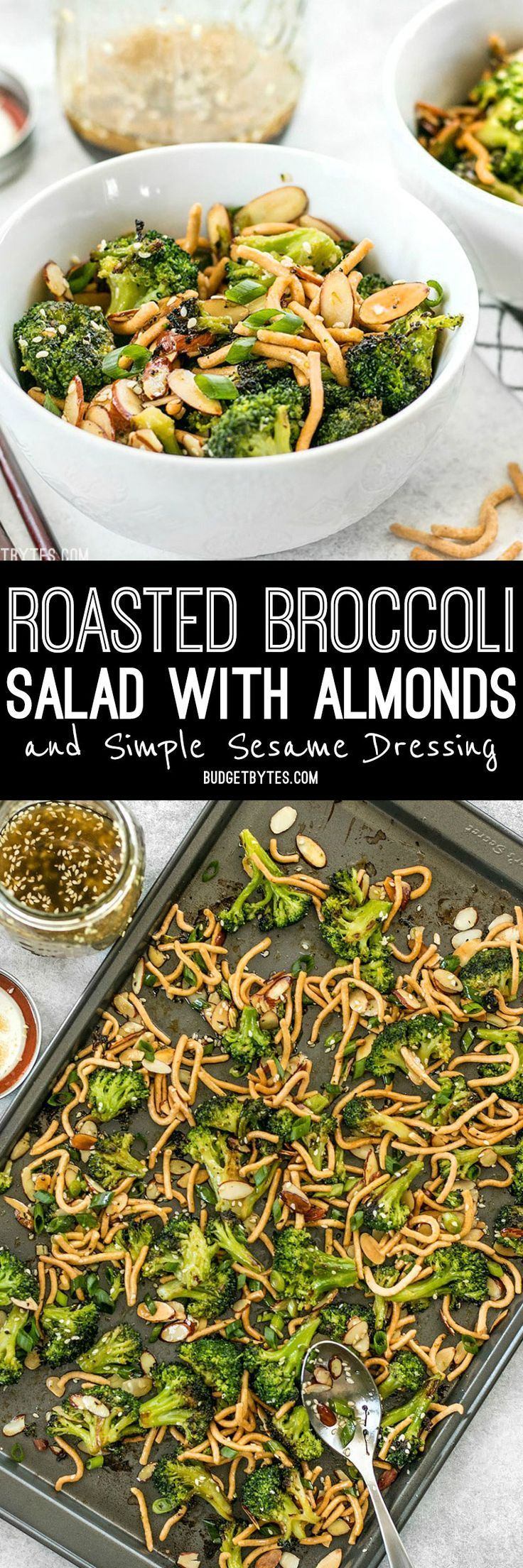 This crunchy, sweet, and salty Roasted Broccoli Salad with Almonds is my favorite way to get my vegetables and goes great with any Asian inspired meal.