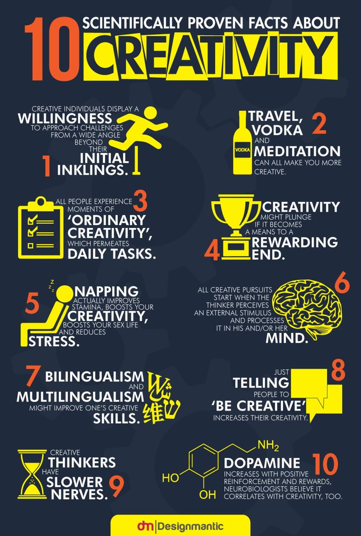 Infographic: 10 Scientifically Proven Facts About Creativity - DesignTAXI.com