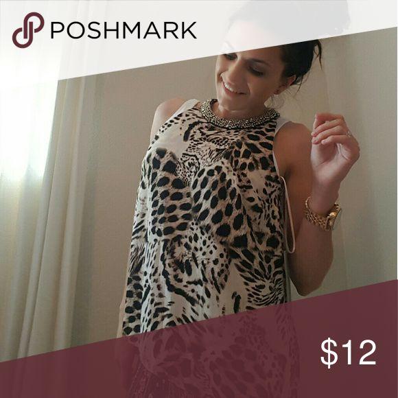 Cheetah print dress shirt Profesional cheetah print shirt Tops