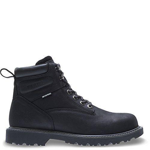 "Wolverine Men's Floorhand Waterproof 6"" Steel Toe Work Boot, Black, 13 3E"