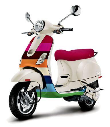 Gap and Vespa Introduce the 2007 Limited Edition Vespa LX 50 in a Custom 'Crazy Stripe' Design