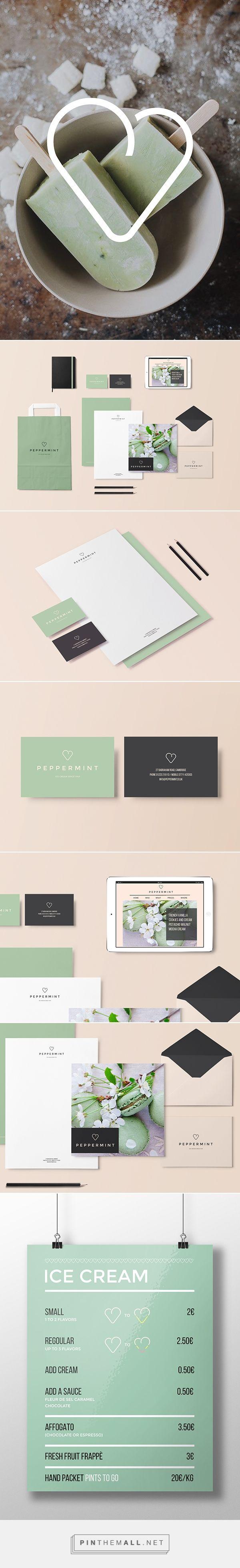 Peppermint Ice Cream Shop Branding by Papere Studio | Fivestar Branding – Design and Branding Agency & Inspiration Gallery