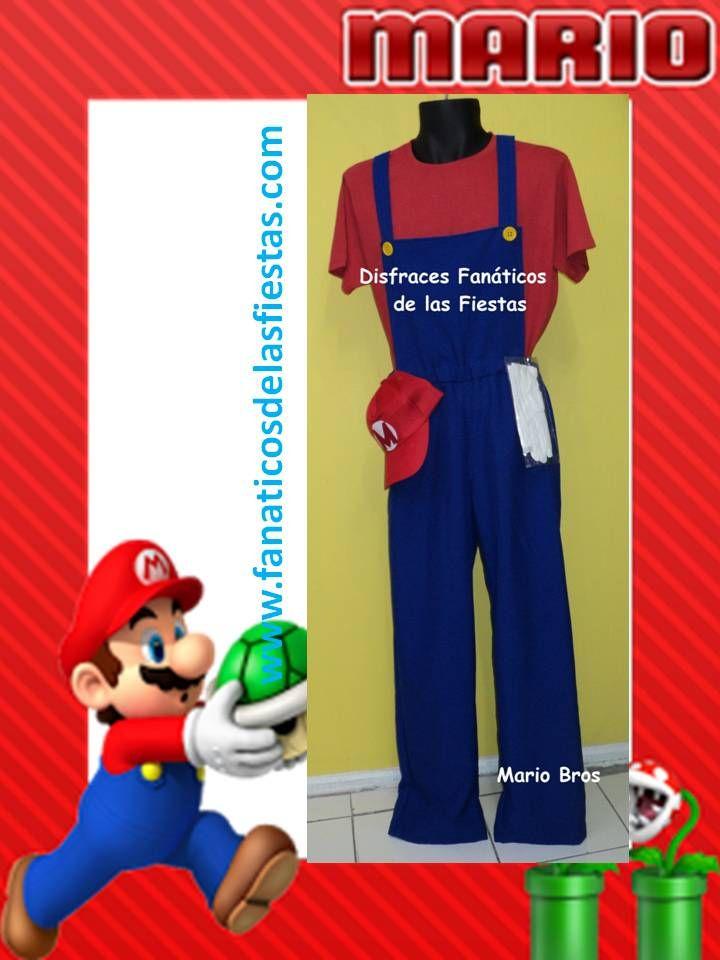 Disfraces de Mario Bros Nuevos - solo venta Tallas S-M-L-XL Precio venta  22.000 pesos. Cotiza ...tenemos los mejores precios del mercado en venta de Disfraces nuevos.