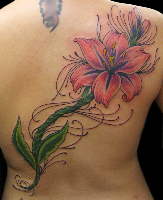17 best images about tats on pinterest lilacs tiger for Dragon lily tattoo