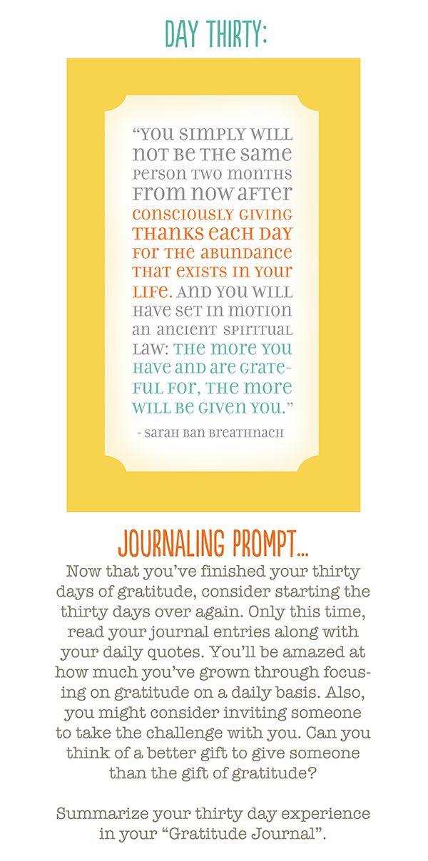 30 Days of Gratitude Journaling