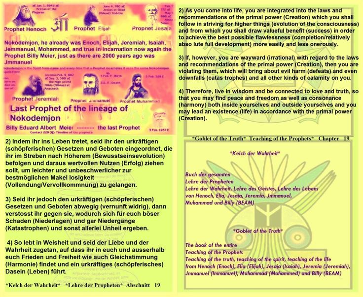 2) As you come into life, you are integrated into the laws and recommendations of the primal power (Creation) which you shall follow in striving for higher things (evolution of the consciousness) and from which you shall draw valueful benefit (success) in order to achieve the best possible flawlessness (completion/relatively abso lute full development) more easily and less onerously.   3) If, however, you are wayward (irrational) with regard to the laws and recommendations of the primal…