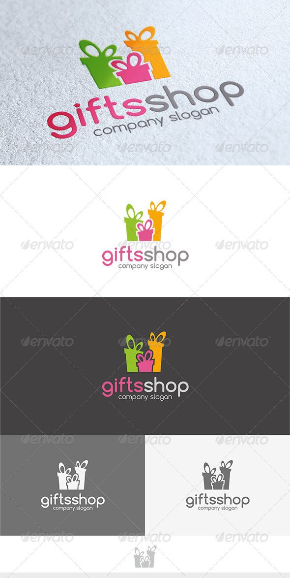 Gifts Shop  - Logo Design Template Vector #logotype Download it here: http://graphicriver.net/item/gifts-shop-logo/3603212?s_rank=633?ref=nexion