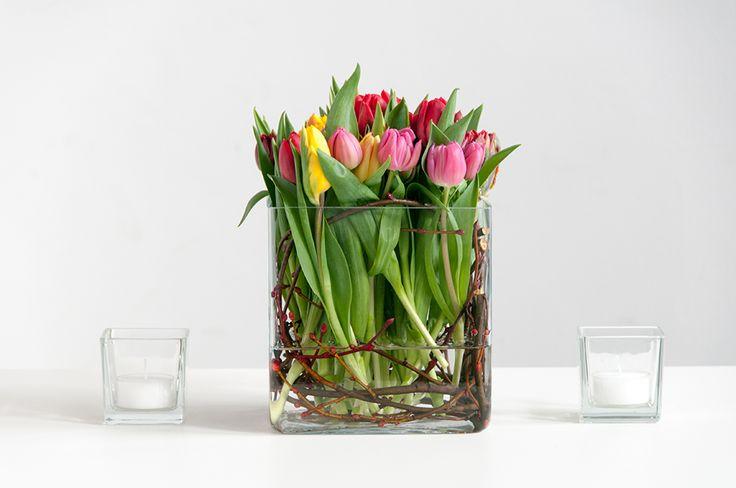 Bunte Tulpen in zarten Farben bringen den Frühling auf Ihren Tisch!