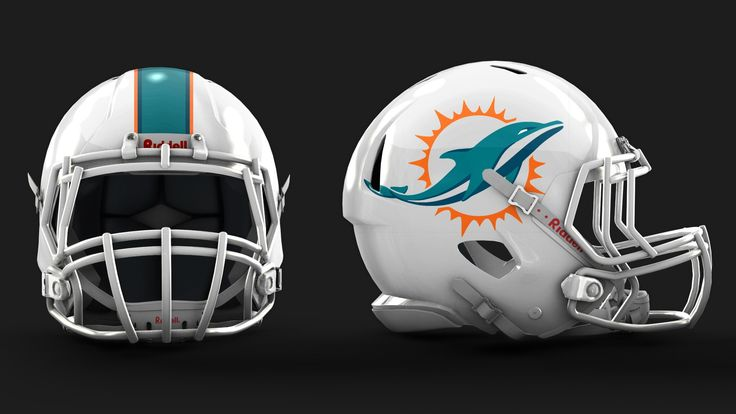 miami dolphins new logo Miami Dolphins Helmet New Logo