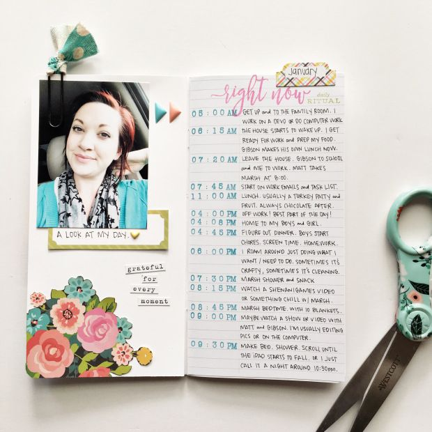 Traveler's Notebook layout by RetroHip Mama