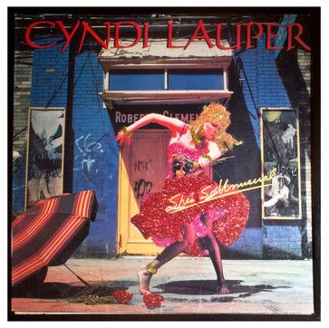 Glittered Cyndi Lauper Album Shes So Unusual - eclectic - Sports And Game Room Memorabilia - mmm designs