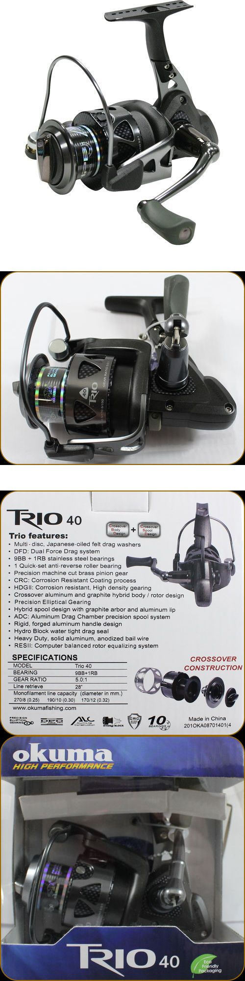 Spinning Reels 36147: New Okuma Trio 40 High Performance Spinning Reel BUY IT NOW ONLY: $59.0