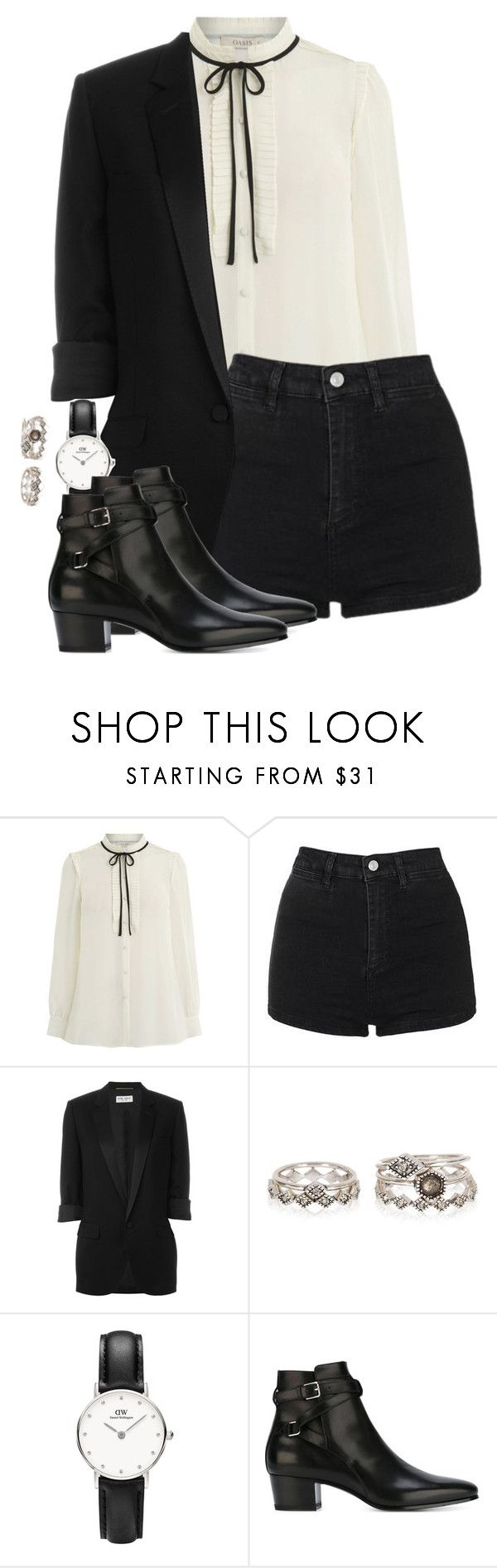 """""""Untitled #15"""" by mikasma ❤ liked on Polyvore featuring Topshop and Yves Saint Laurent"""