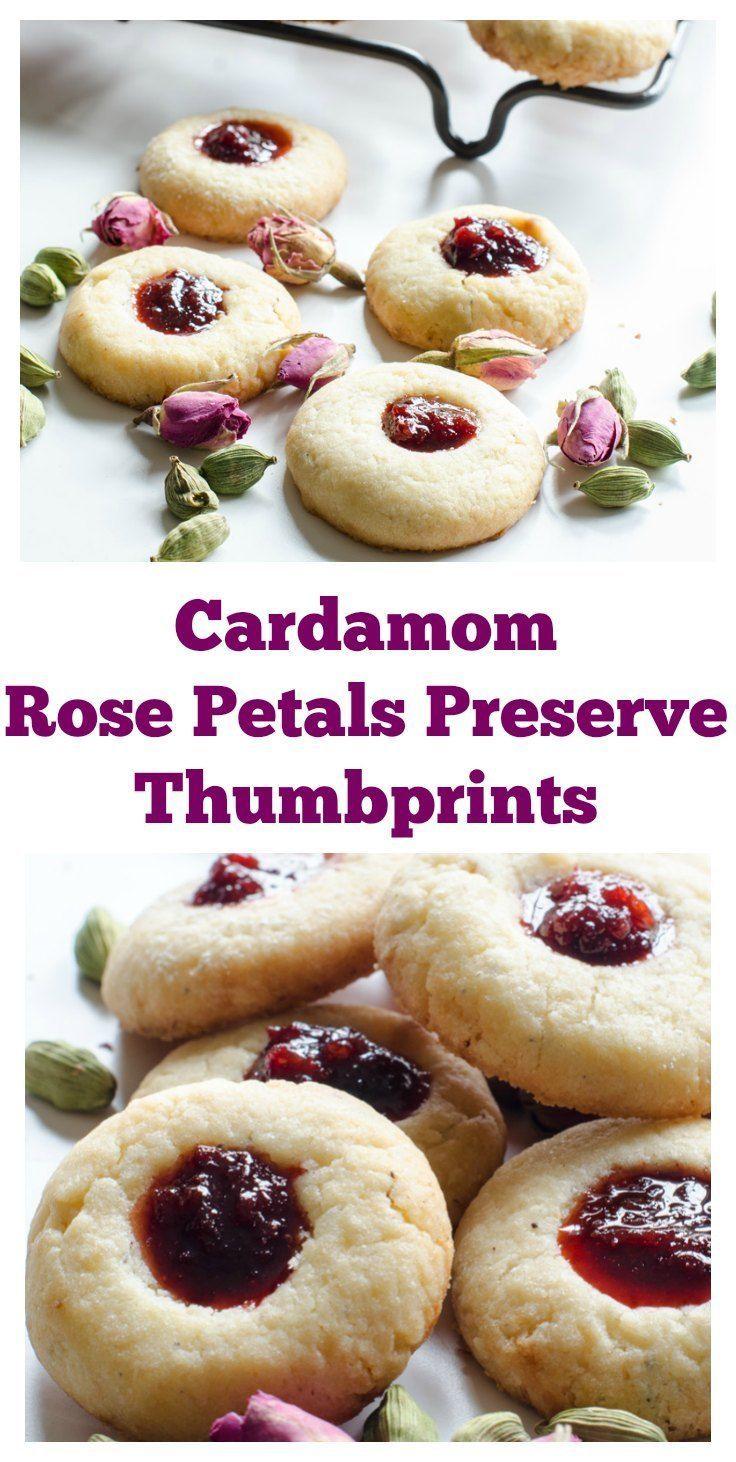 Cardamom Rose Petals Preserve Thumbprints