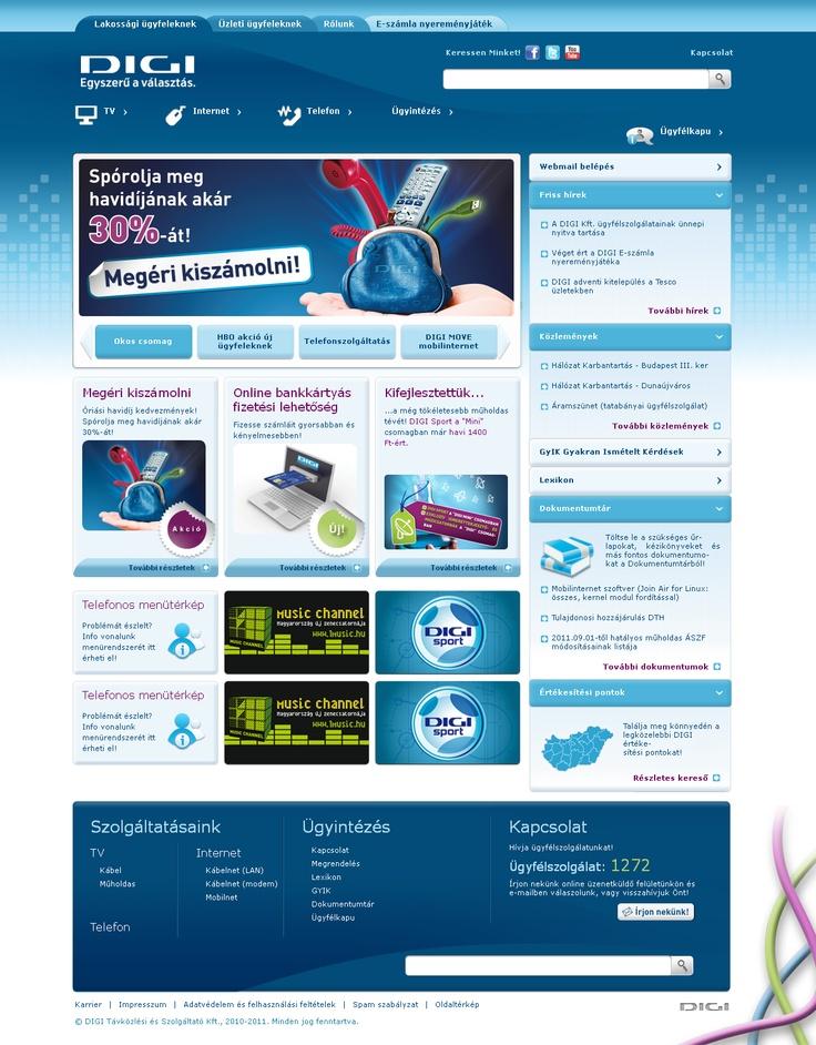 DIGI corporate website structural & functional design
